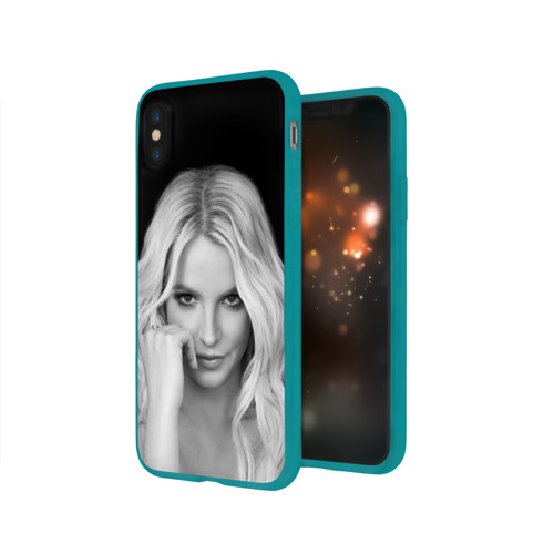 Чехол для Apple iPhone X силиконовый глянцевый Бритни Спирс Фото 01