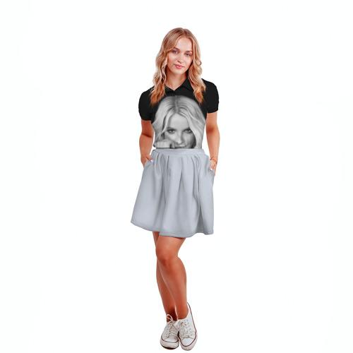 Женская рубашка поло 3D Бритни Спирс Фото 01