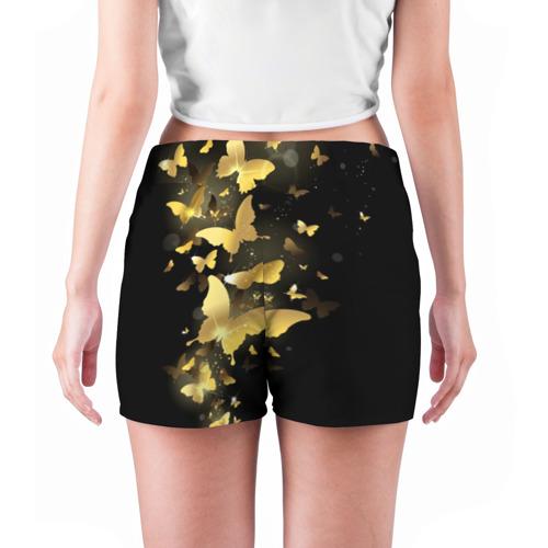 Женские шорты 3D  Фото 04, Золотые бабочки