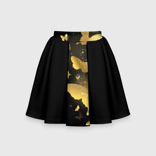 Детская юбка-солнце 3D Золотые бабочки