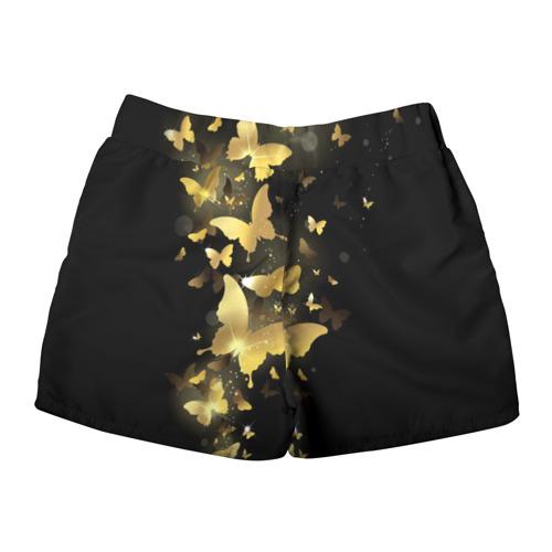 Женские шорты 3D  Фото 02, Золотые бабочки