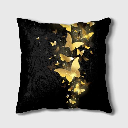Подушка 3D Золотые бабочки Фото 01