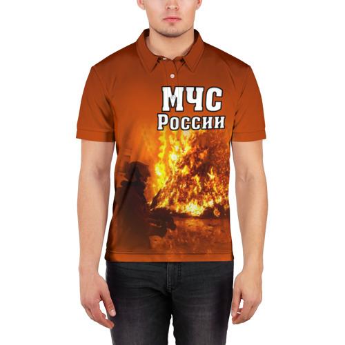 Мужская рубашка поло 3D  Фото 03, МЧС России