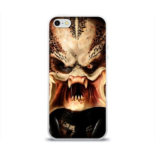 Чехол для Apple iPhone 5/5S силиконовый глянцевый  Фото 01, Хищник