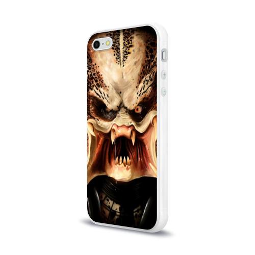 Чехол для Apple iPhone 5/5S силиконовый глянцевый  Фото 03, Хищник