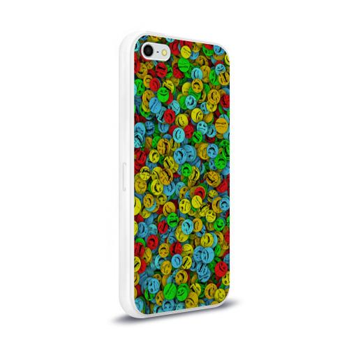 Чехол для Apple iPhone 5/5S силиконовый глянцевый  Фото 02, Злобные смайлы