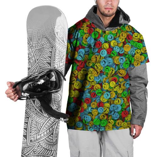 Накидка на куртку 3D  Фото 01, Злобные смайлы