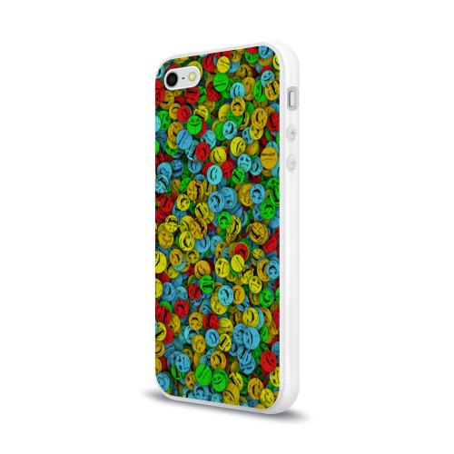 Чехол для Apple iPhone 5/5S силиконовый глянцевый  Фото 03, Злобные смайлы