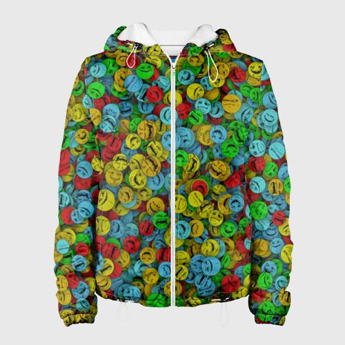 Женская куртка 3D  Фото 01, Злобные смайлы