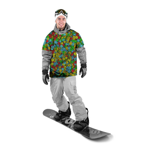Накидка на куртку 3D  Фото 03, Злобные смайлы