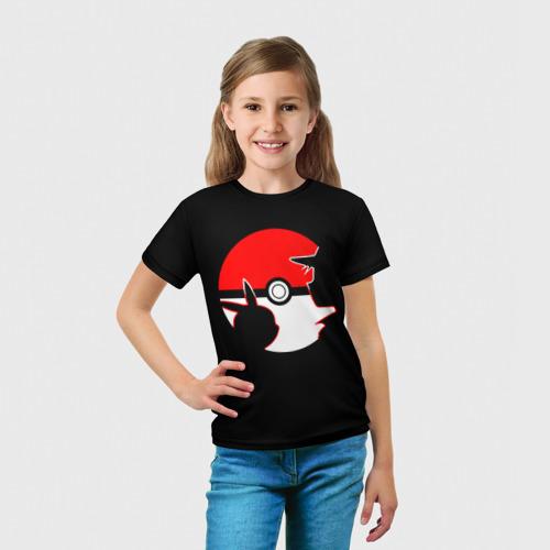 Детская футболка 3D  Фото 03, Эш и Пикачу