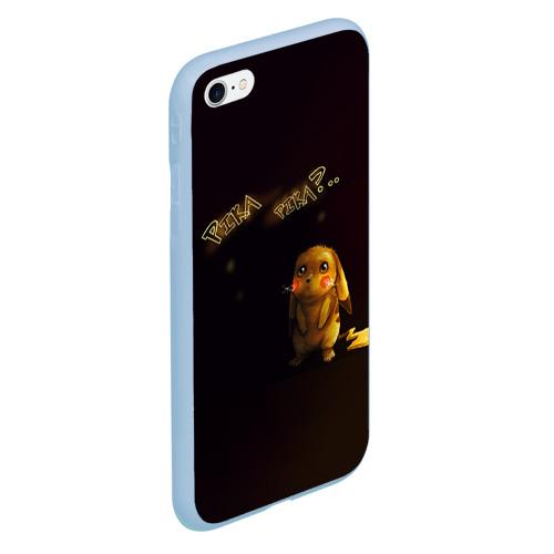 Чехол для iPhone 6/6S матовый Грустный Пикачу Фото 01