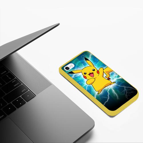Чехол для iPhone 6/6S матовый Искрящийся Пикачу Фото 01