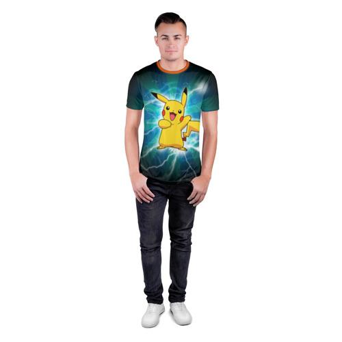 Мужская футболка 3D спортивная Искрящийся Пикачу Фото 01