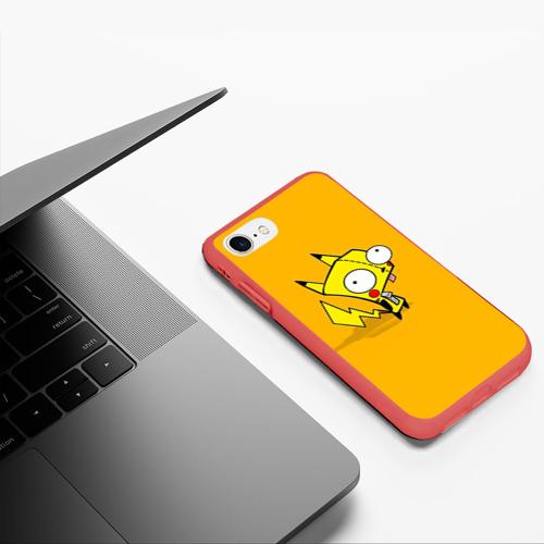Чехол для iPhone 7/8 матовый Забавный пикачу Фото 01