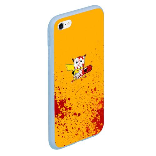 Чехол для iPhone 6/6S матовый Пикачу-агрессор Фото 01