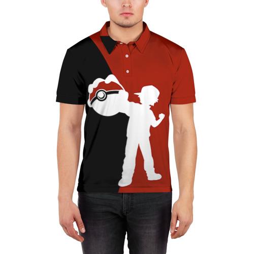 Мужская рубашка поло 3D  Фото 03, Эш