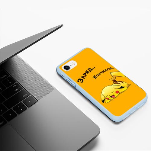Чехол для iPhone 7/8 матовый Уставший Пикачу Фото 01