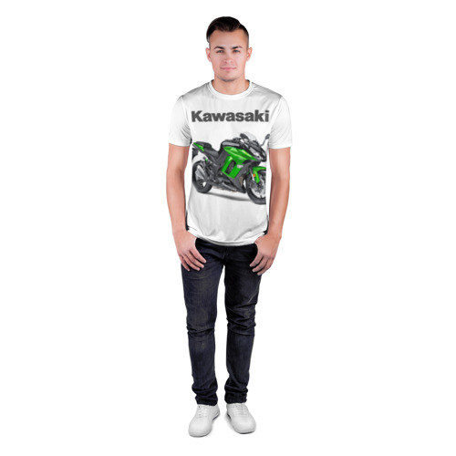 Мужская футболка 3D спортивная  Фото 04, Kawasaky Ninja 1000