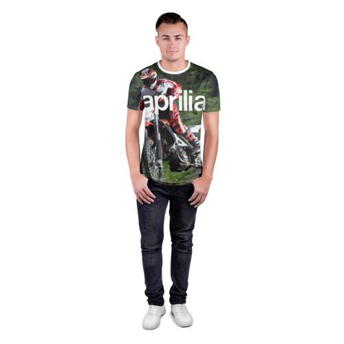 Мужская футболка 3D спортивная  Фото 04, Aprilia RXV480