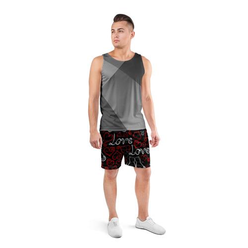 Мужские шорты 3D спортивные  Фото 04, Love