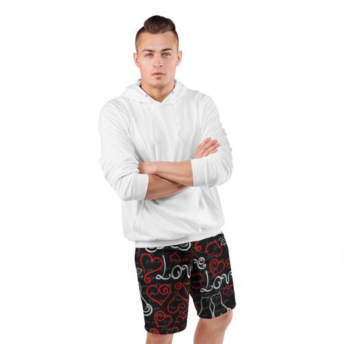 Мужские шорты 3D спортивные  Фото 05, Love