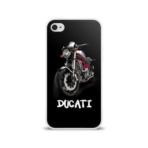 Чехол для Apple iPhone 4/4S силиконовый глянцевый Ducati Фото 01