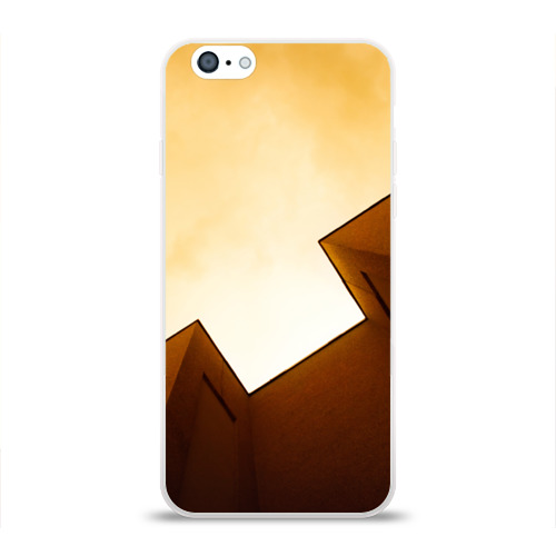 Чехол для Apple iPhone 6 силиконовый глянцевый  Фото 01, Небоскрёб