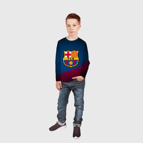 Детский лонгслив 3D ФК Барселона Фото 01