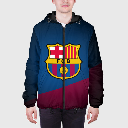 Мужская куртка 3D ФК Барселона Фото 01