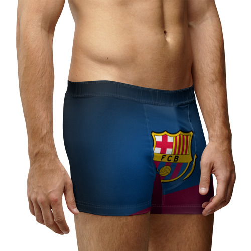 Мужские трусы 3D ФК Барселона Фото 01