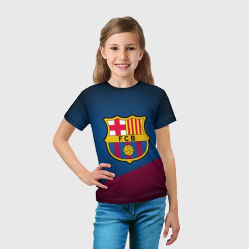 Детская футболка 3D ФК Барселона Фото 01