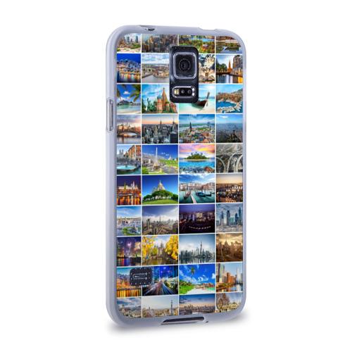 Чехол для Samsung Galaxy S5 силиконовый  Фото 02, Мир путешествий