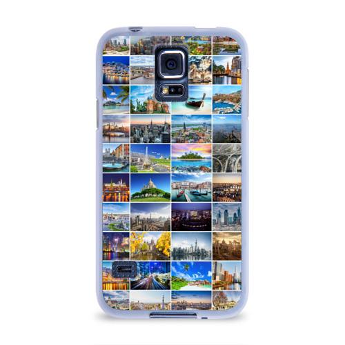 Чехол для Samsung Galaxy S5 силиконовый  Фото 01, Мир путешествий