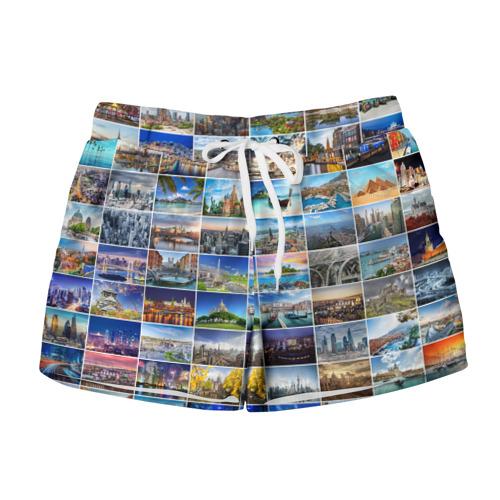 Женские шорты 3D Мир путешествий
