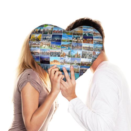 Подушка 3D сердце  Фото 03, Достопримечательности планеты