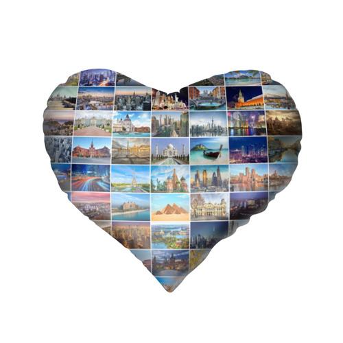 Подушка 3D сердце  Фото 02, Достопримечательности планеты