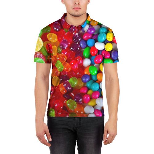 Мужская рубашка поло 3D  Фото 03, Вкусняшки