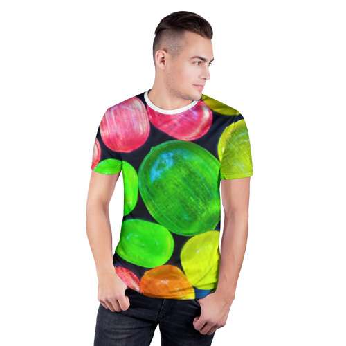 Мужская футболка 3D спортивная  Фото 03, Карамельки