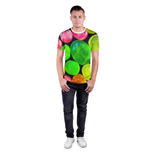 Мужская футболка 3D спортивная  Фото 04, Карамельки