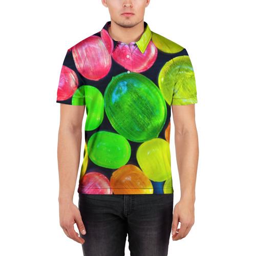 Мужская рубашка поло 3D  Фото 03, Карамельки