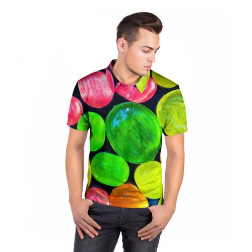 Мужская рубашка поло 3D  Фото 05, Карамельки