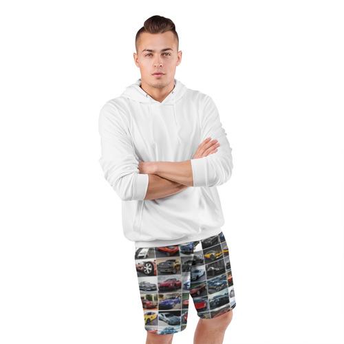 Мужские шорты спортивные Прокачанные тачки Фото 01