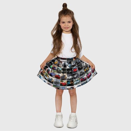 Детская юбка-солнце 3D  Фото 03, Мощные тачки
