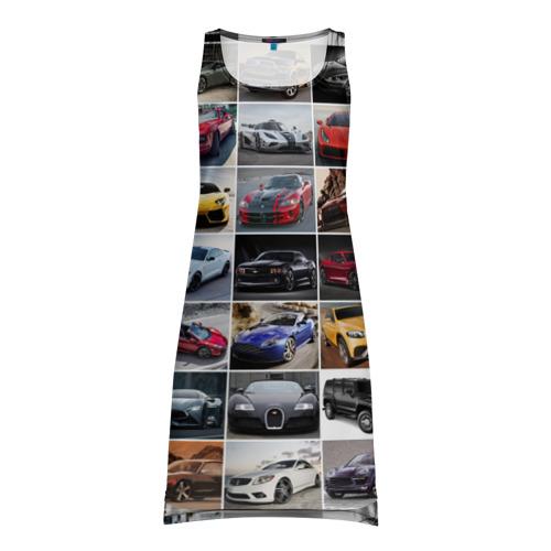 Платье-майка 3D Элитные авто