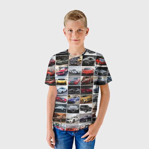 Детская футболка 3D Элитные авто