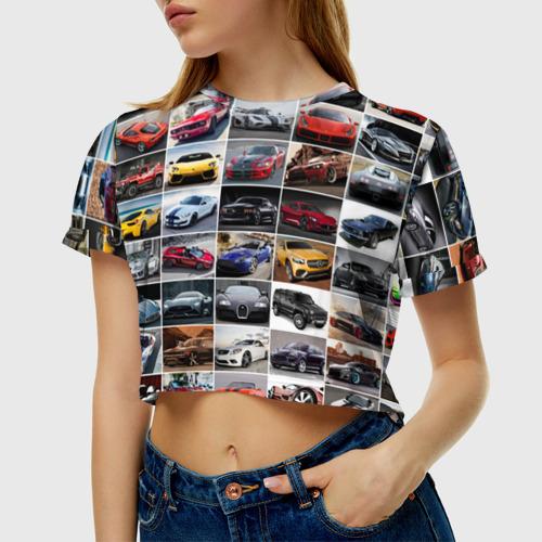 Женская футболка Cropp-top  Фото 01, Элитные авто