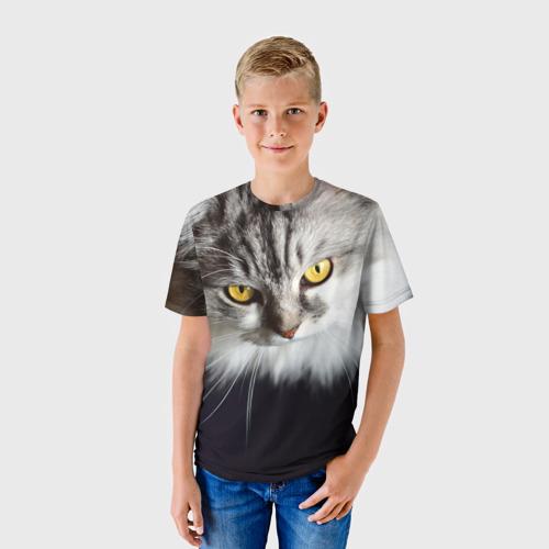 Детская футболка 3D Жёлтые глаза