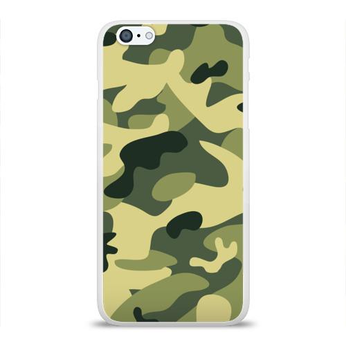 Чехол для Apple iPhone 6Plus/6SPlus силиконовый глянцевый  Фото 01, Зелёный камуфляж