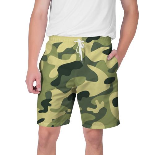 Мужские шорты 3D Зелёный камуфляж